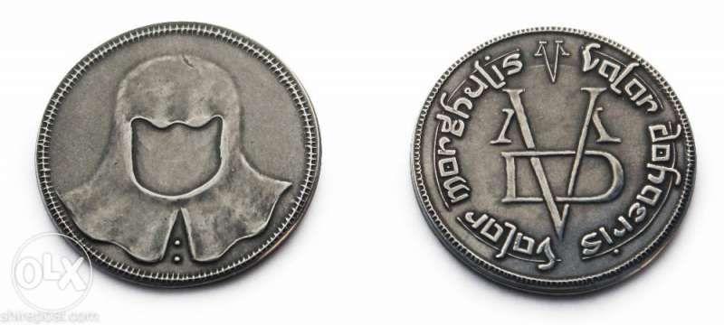 """монета """"БЕЗЛИКИЯ"""" от филма Игра на тронове/Game of thrones"""