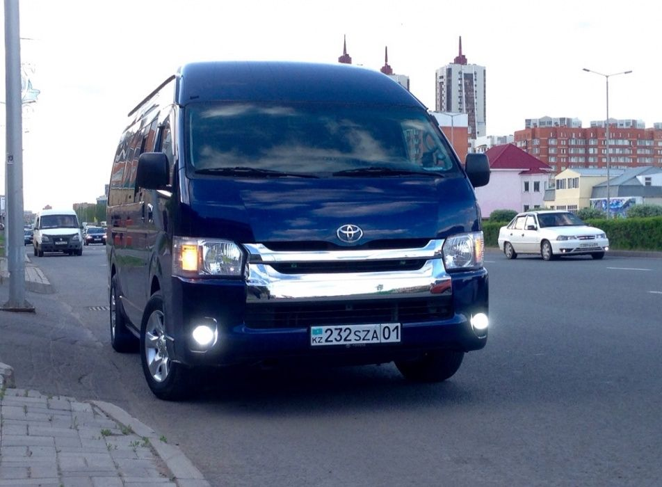 Услуги микроавтобуса/пассажирские перевозки/TOYOTA HIACE/Развозка Астана - изображение 1
