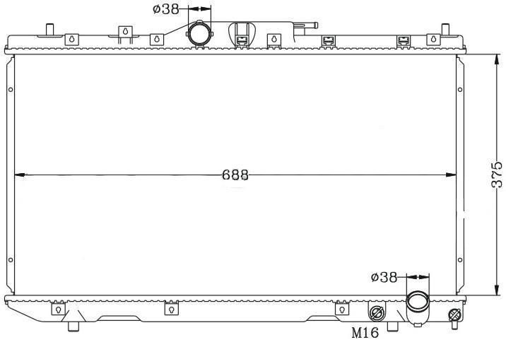 радиатор воден НОВ за Avensis 2.0 D4D 2000>