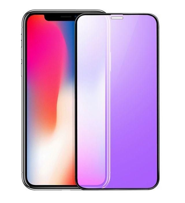 Iphone X XS 10 - Folie Sticla Securizata Curbata 6D Tenta Albastra