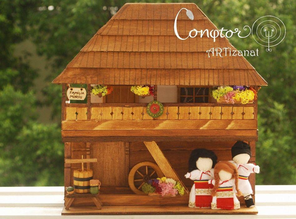 Căsuțe tradiționale românești în miniatură