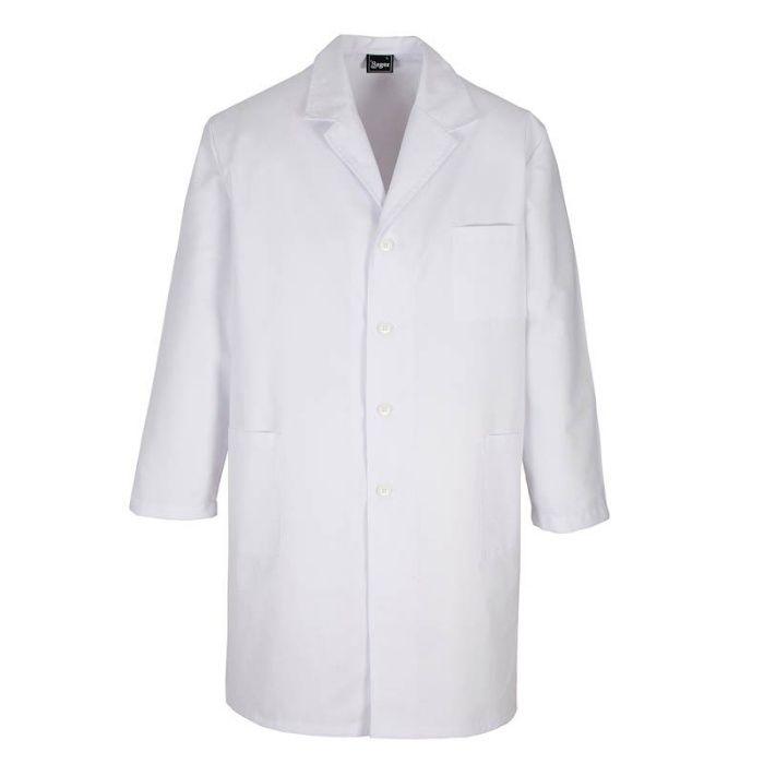 Batas, mangas cumpridas para médicos e alunos bem como professores.