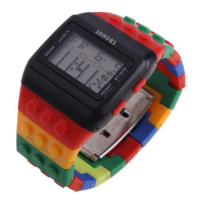 Часовници с блокчета подобни на Лего Lego цветен Барселона Batman 4