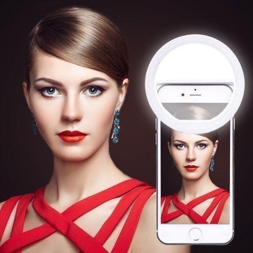 Lampa foto-video circulara 36 LED pt. selfie smartphone