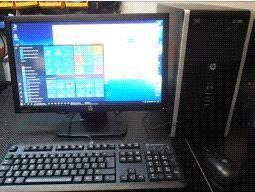 Computador hp de mesa a venda
