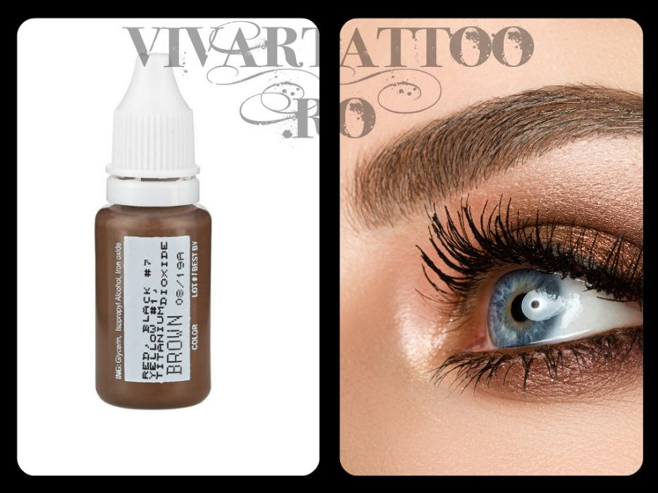 Pigment Tatuaj Cosmetic Micropigmentare Sprancene BioTouch Brown 15 ml