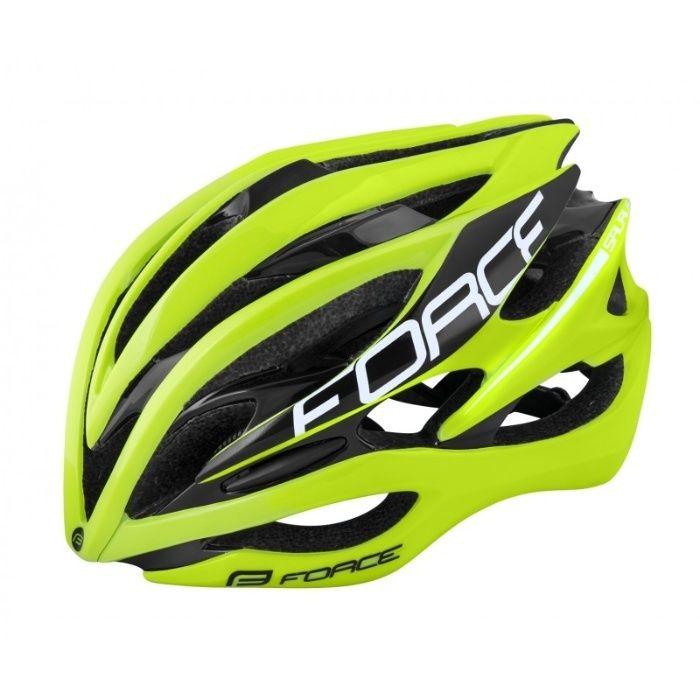 Casca de ciclism Force Saurus 2018 fluo/negru