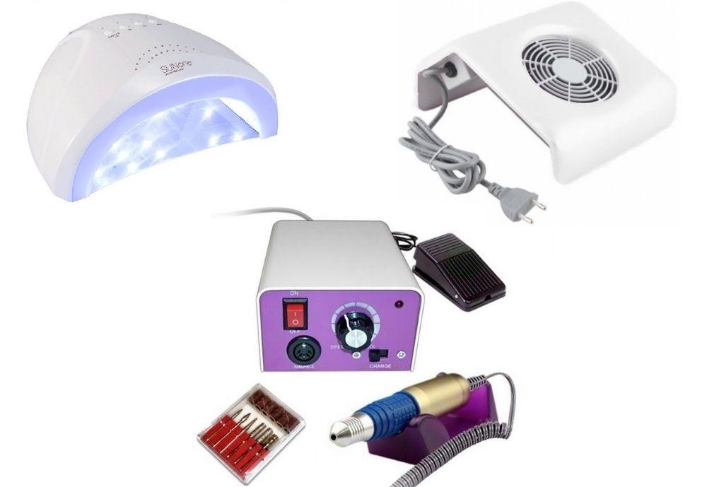 KIT aparate manichiura, Lampa Uv LED, Freza unghii , Aspirator praf