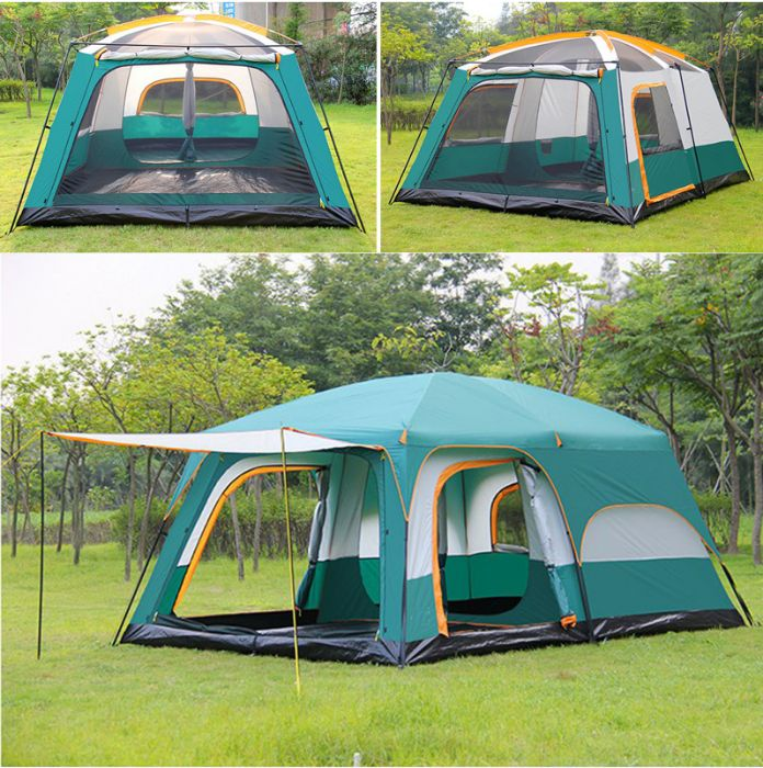 Tenda de Acampamento Pop-up Impermeável para 10-12 Pessoas