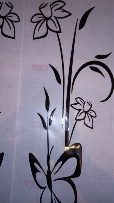 Autocolant wall sticker flowers and butterfly