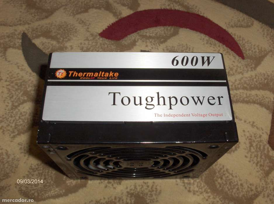 Carcasa metalica de la sursa ThermalTake Toughpower 600W