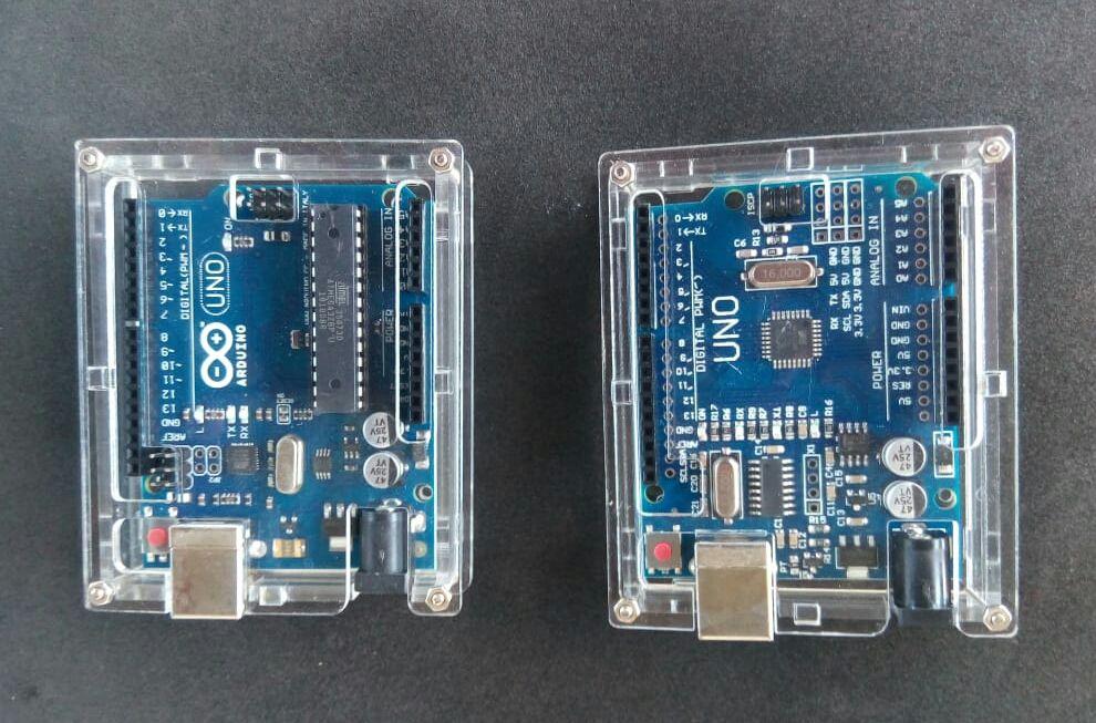 Caixa transparente para Arduino Uno e Mega