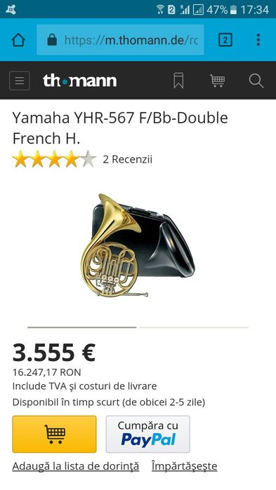 Horn french yhr 567 d