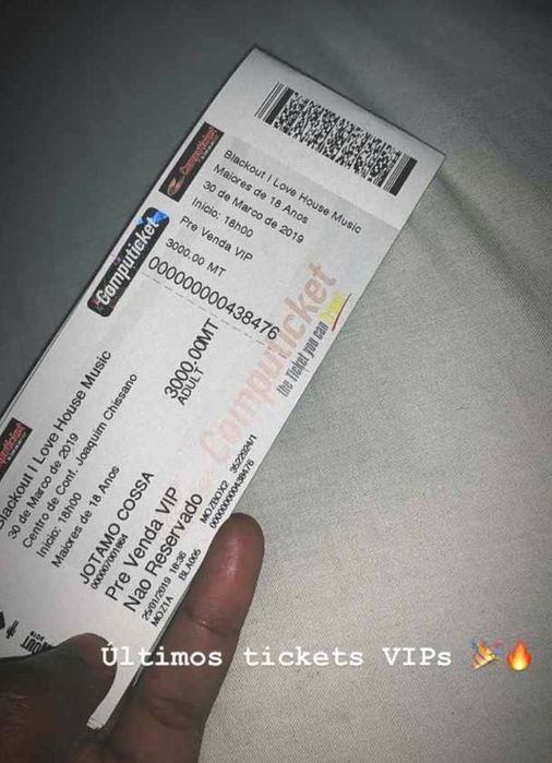 Ticket vip do blackout