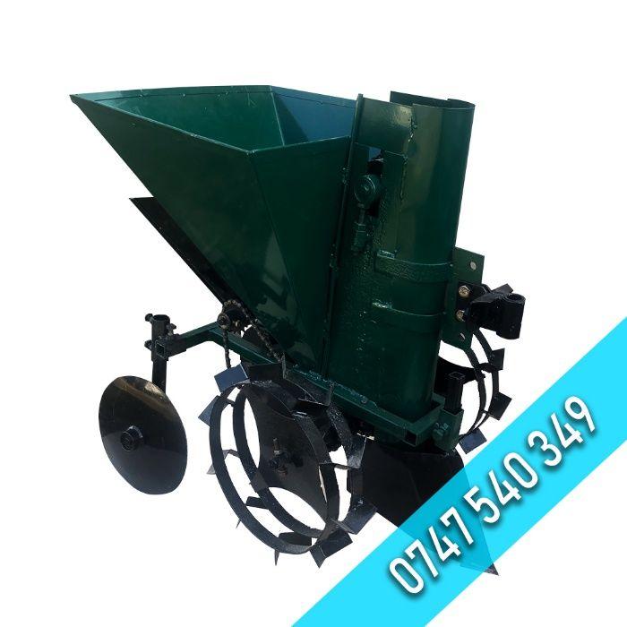 Masina/Plantator de cartofi cu fertilizator pentru motocultor/tractor