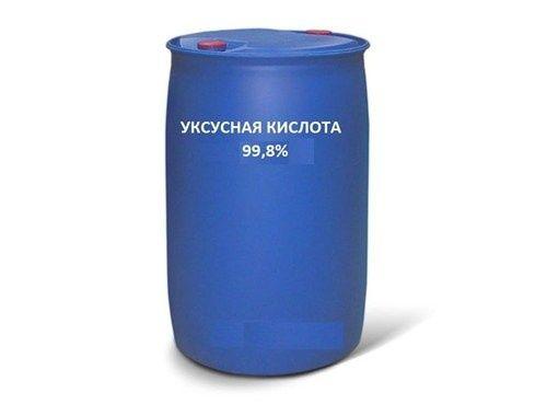 Уксусная кислота 99,9 % (пищевая), ледянка в бочках по 200 л. оптом