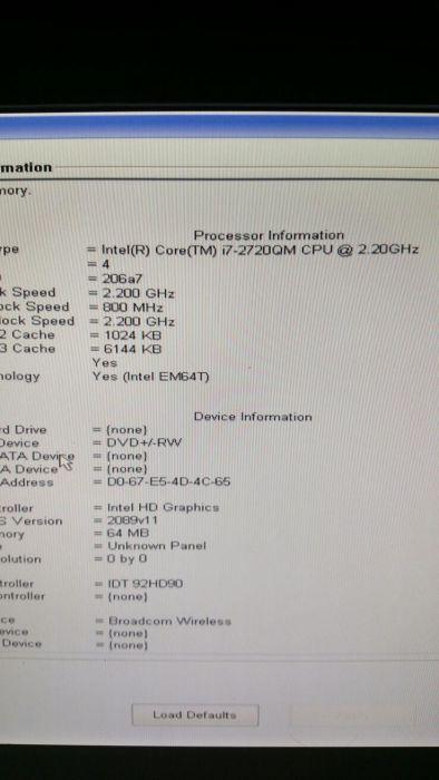 """placa de baza Dell Latitude E5520 15,6"""" sandy bridge suporta i3,i5,i7"""