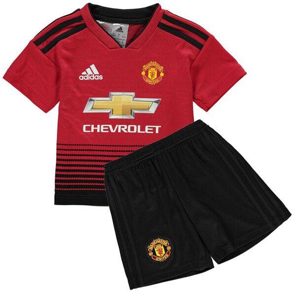 Manchester United Home Kids Football Kit 18/19