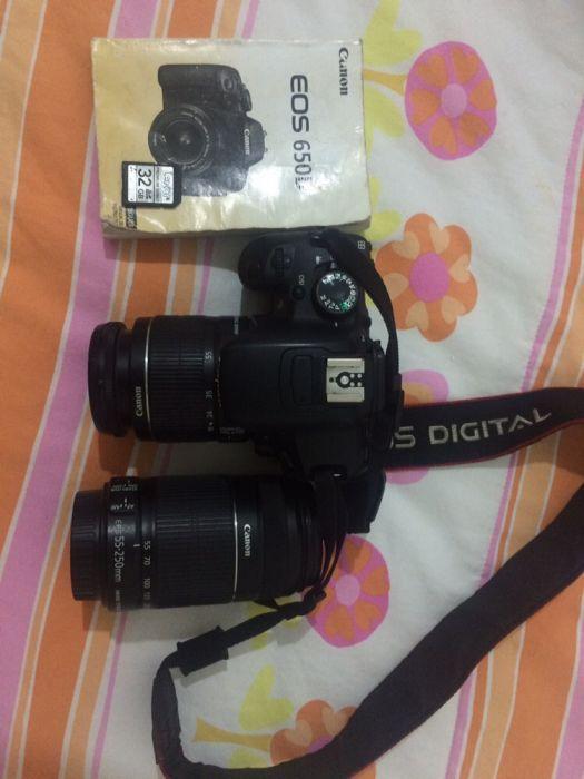 Canon 650D + 2 Lentes + Tripé (Usada)