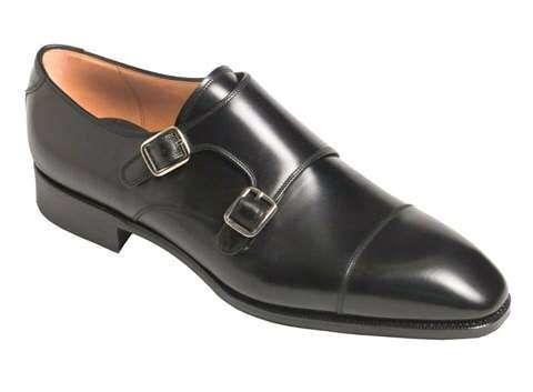 Sapatos duas fivelas preto