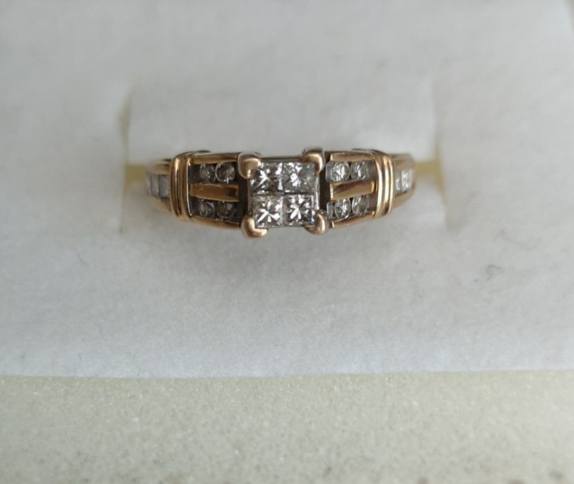 Inel aur 14k diamante aprox 1ct