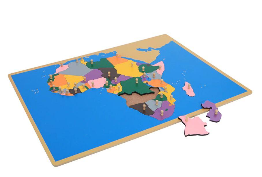 Обозначена карта на Африка от дърво с основните държави ВСИЧКИ ДЪРВЕНИ гр. Бургас - image 2