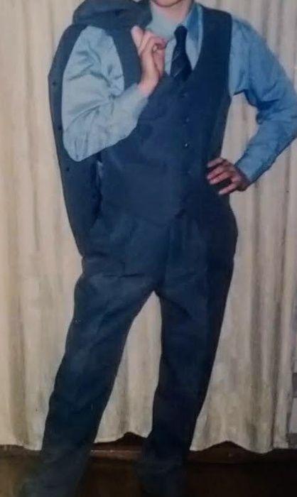 мужской костюм 3-ка, цвет - серый