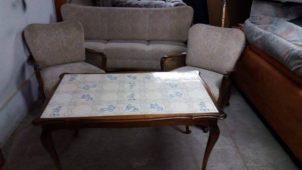 set canapea, masa si fotolii-vintage