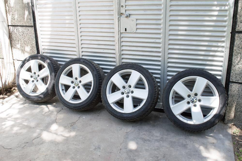 4 бр джанти Borbet Med и 4 нови гуми 225/45/17 в гаранция