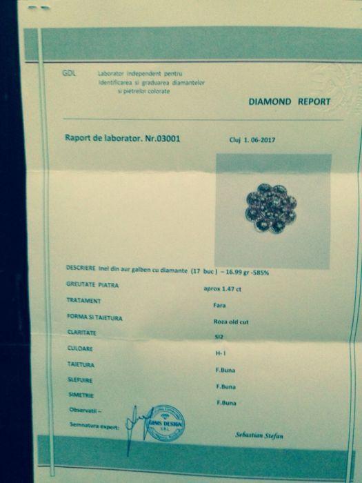 Vand sau schimb broşă de aur cu 17 diamante mari Cluj-Napoca - imagine 2