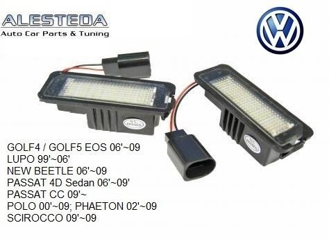 Lampa numar led VW Golf 4,5 Passat, Beetle, Phaeton, Eos, Scirocco