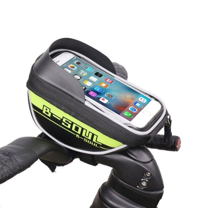 Borseta pipa gri-negru bicicleta smartphone touch marimea L Protectie