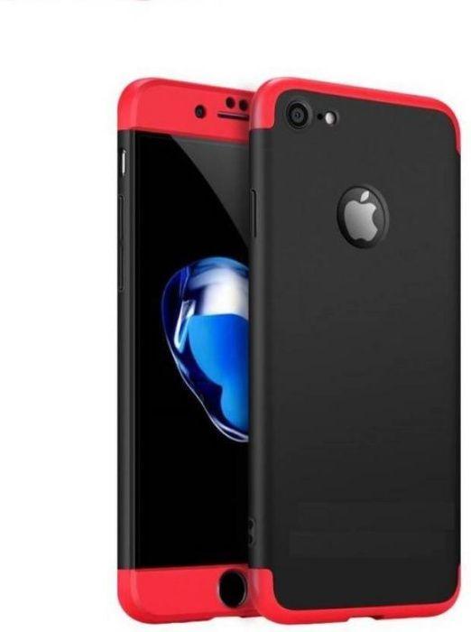 Husa Apple iPhone 6/6S, Elegance Luxury, 360° 3in1 Negru-Rosu