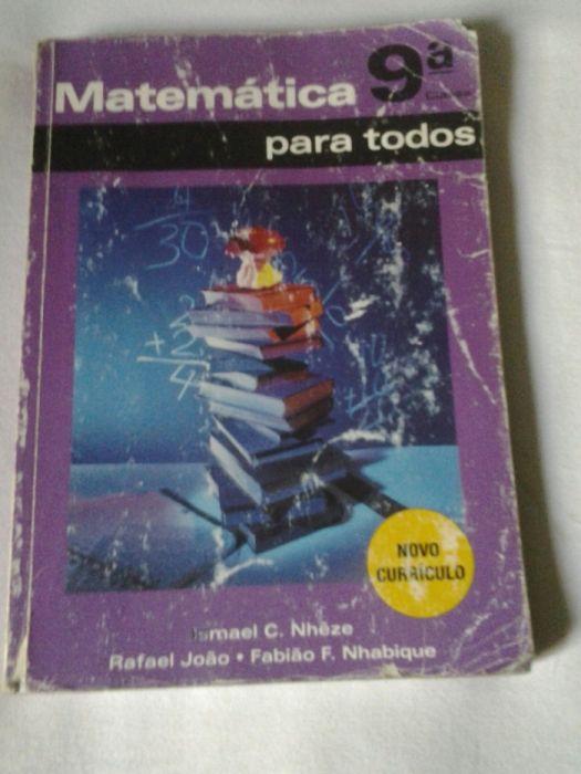Vendo livro de Matemática da 9ª Classe