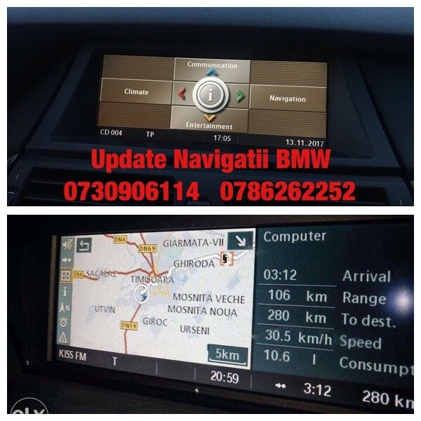 BMW DVD Navi Seria 1,3,5,X3,X5,X6 Harti 2018 Detaliate ROMANIA E90,E60