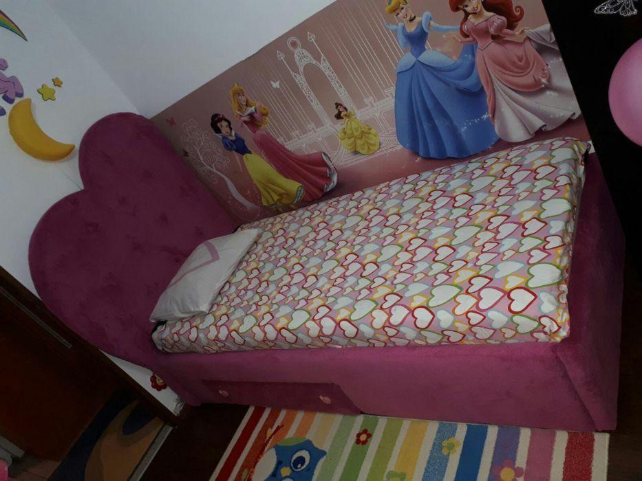 Pat tapițat pentru copii Bucuresti - imagine 4