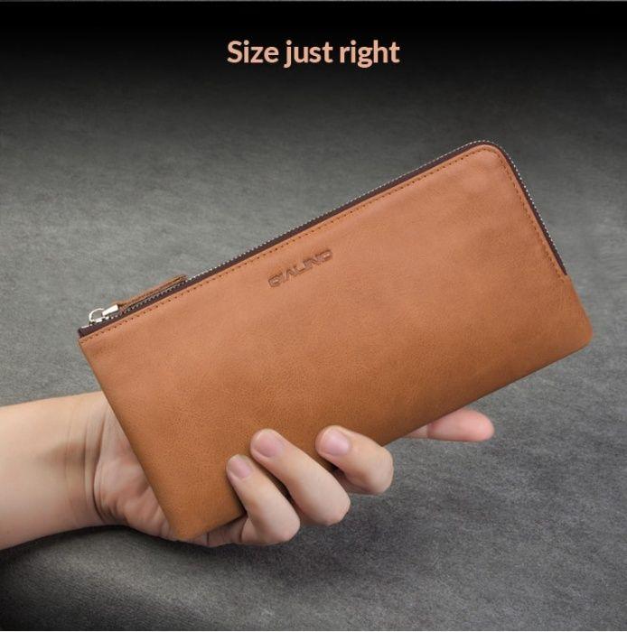 Husa portofel univ piele Qialino, iPhone 8 Plus,Samsung Note 8,S8 Plus