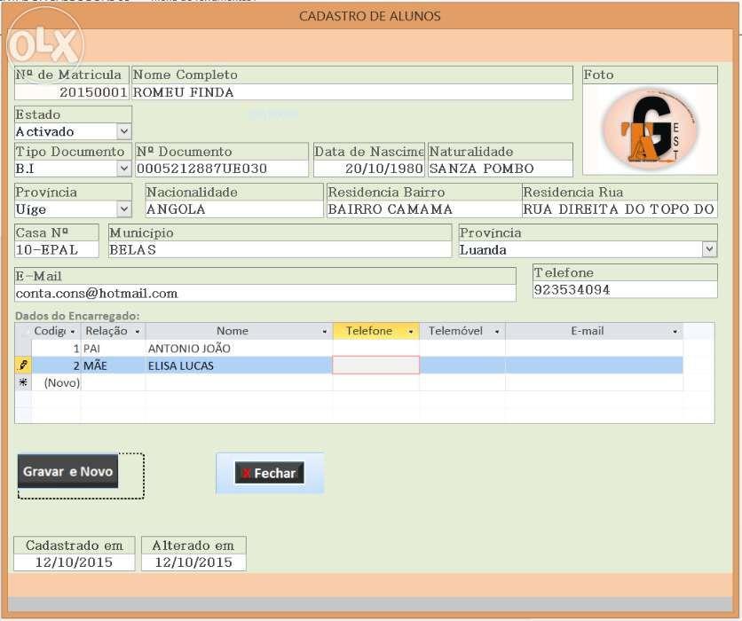 Software de Gestão Escolar para colegios.