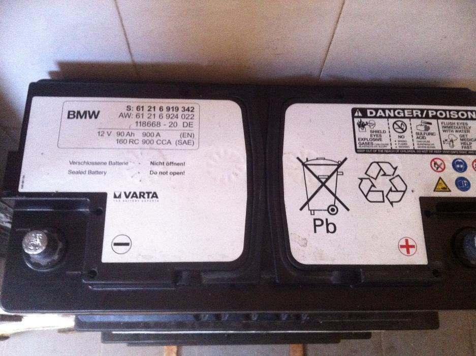 акумулатор 90 ач варта,гелов,БМВ оригинален,гаранция