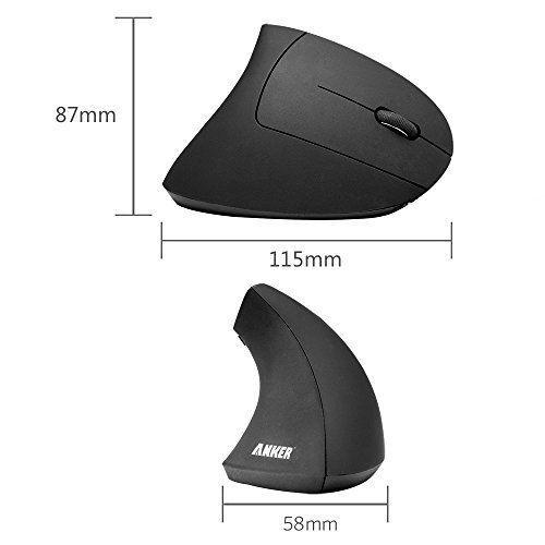 Anker® 2.4G-безжична вертикално-ергономична оптична компютърна мишка