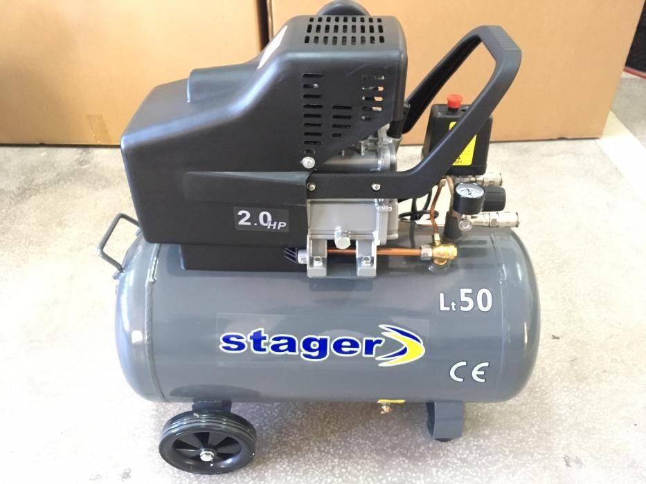 Compresor Stager HM2050B/50 1.5KW; 200L/min; Rezervor 50L. Mogosoaia - imagine 5
