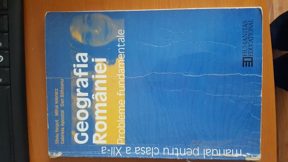 Vand manual de geografie pentru clasa a XII-a