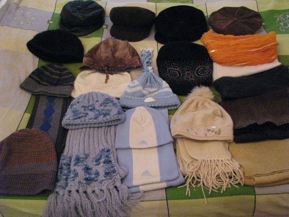 Шапки с шарфами ,бейсболки,кепки муж.и жен.