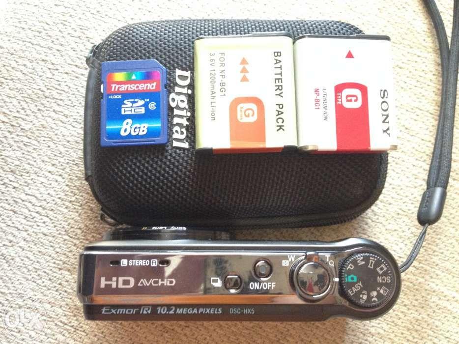Aparat foto digital SONY DSC-HX5V + 2 baterii + Memory card 8 GB
