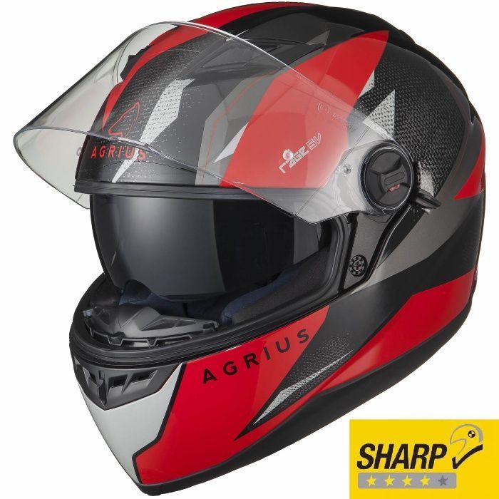 Casca moto Noua Rosie -4* SHARP- Ochelari - Agrius Fusion SV - S,M,L,X