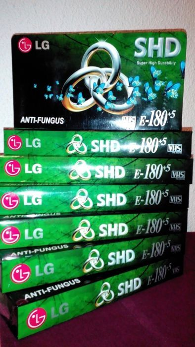 LG videocasete VHS sigilate