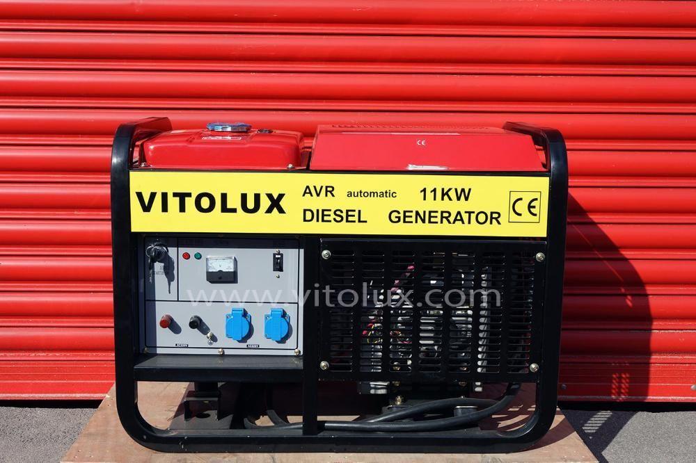 11 KW Дизелови Монофазни Генератори VITOLUX с електрически старт