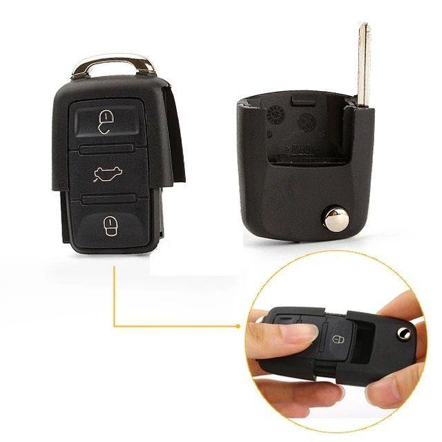 Carcasa cheie briceag ORIGINALA cu logo VW ,SKODA, SEAT 3 butoane