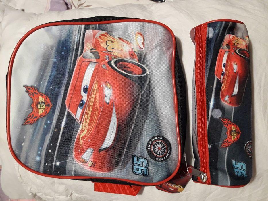 Нов комплект раница и несесер Карс/Cars McQueen