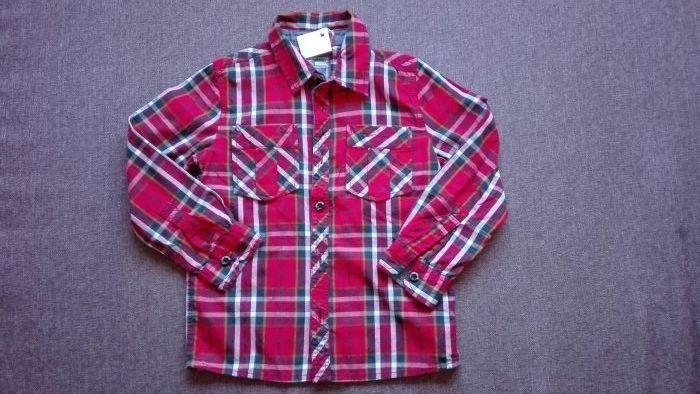 Нова детска риза за момчета Name it, ръст 110 - 116 см